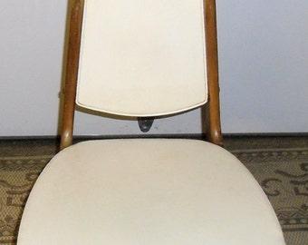 Mid Century Teak Chair, Vintage Modern Leather Chair, Vintage Danish Lounge Chair, Mid Century Modern Chair - SALE 10%