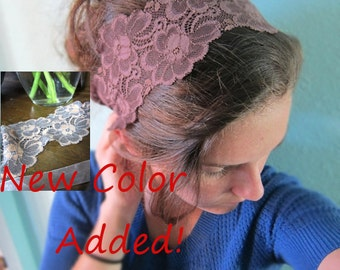 New Orange/Gray or Purple/Brown Lace Headcovering/Band