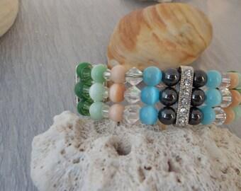 Cuff Bracelet, Beaded Bracelet