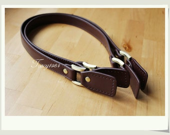 "61cm or 24"" Deep Brown Synthetic Leather Straps for Bag Purse"