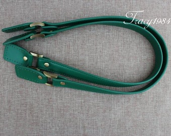 24 inch PU Leather Tote Purse Handles in Green Color