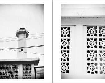 Two 8x10 Black&White Fine Art Photographs, The Lighthouse and Helms Diptych
