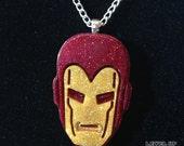 Resin Avengers Iron Man Pendant Ironman Necklace Iron Man Jewelry Ironman Jewelry Geek Jewelry Geek Necklace  *** FREE SHIPPING ***