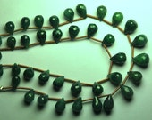 1/2 Strand,Superb-Finest Quality,Dyed Natural Emerald Faceted Tear Drops Shape Briolettes,7-8mm size