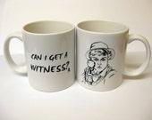 Jessica Fletcher 'can i get a witness' mug