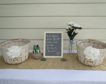 Wedding Guest Book Alternative- River Rock Guest Book- rustic wedding guest book