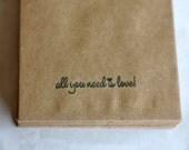 Custom Listing for Jessica O: 150 Lyric Envelopes