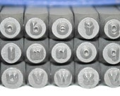 Arial Font Metal Stamp Set- Lowercase- 2MM- Rare Metal Stamp Set- Inexpensive- Steel Stamp Set- All Lowercase Stamps- Jewelry Making- SGAL-2