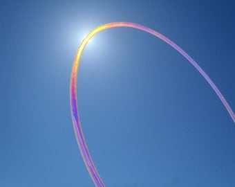 GREAT Deal Get 2 ALL NEW Sunset Sky Holographic Polypro Hula Hoops Customize Your Dance Hoops