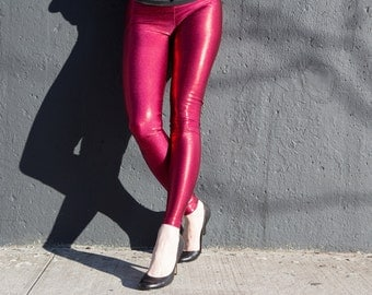 Red Hot Metallic leggings