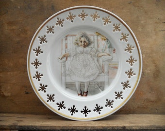 Vintage B&G 1978 Carl Larsson Serie 2 Motif 3 Portrait of Inga-Marie Thiel painted in 1918 Denmark Copenhagen collectible plate Wall plate