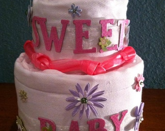 Cloth diaper cakes