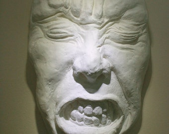 "Macabre Fine Art Face Sculpture,  ""Hiding No. 6, Process Study"""