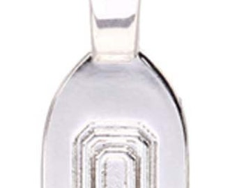 5 -Med/Lg Smooth Silver Plated Glue on Bail