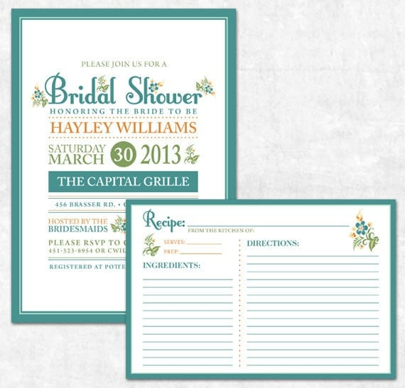 Items similar to Printable Bridal Shower Invitation and ...