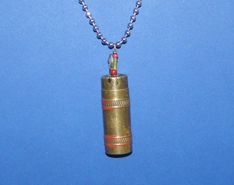 Vintage bullet lighter pendant