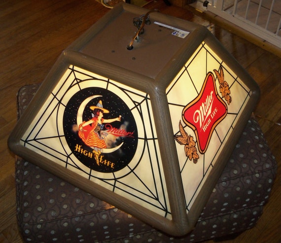 Vintage 80s Miller Beer HIGH-LIFE Moon By TheDistortedAperture