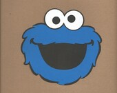 1- 8 inch tall Cookie Monster face Cricut Die Cut