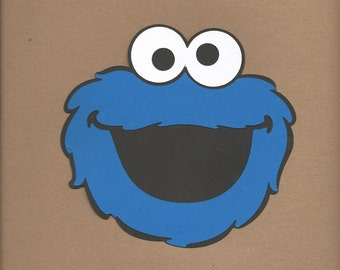 20- 2 inch tall Cookie Monster face Cricut Die Cut