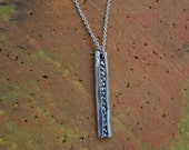 Abstract Silver Pendant on Cable Chain