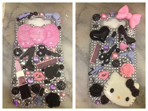 Cosmetologist cosmetology cosmetic beautician hair stylist nails barber beauty make up scissors ANY case kitty ipod phone BLING