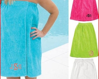 Monogrammed Towel wraps PERFECT GIFT Great for the Beach