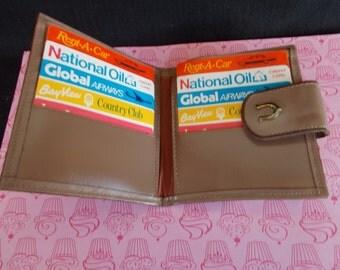 Vintage Di Lido Cowhide Tan Wallet