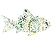 Fathers Day image. Fathers Day word cloud. Fathers Day Gifts.