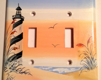 Cape Hatteras Lighthouse DoubleToggle Lightswitch Cover
