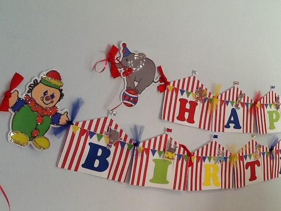 Circus Birthday Banner Circus Theme Circus Party Carnival Theme - A