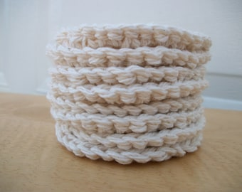 Crocheted Face Scrubbies - 100% Cotton - Set of 8