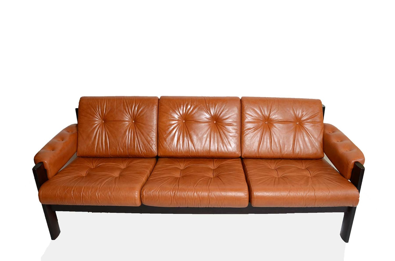 Leather Ekornes Stressless Amigo Sofa Norway Mid Century