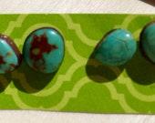 Real Turquoise Earrings Set
