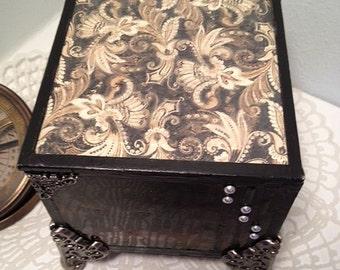 Mens jewelry cuff links stain glass box