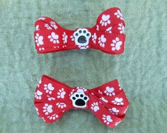 "Dog ""Paw Print Hairbows"""