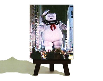Stay Puft Marshmallow Man - Ghostbusters Classic  Miniature Canvas and Easel Set.