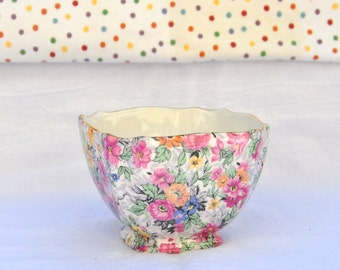 Chintz China Sugar Bowl by BCM / Nelson Ware