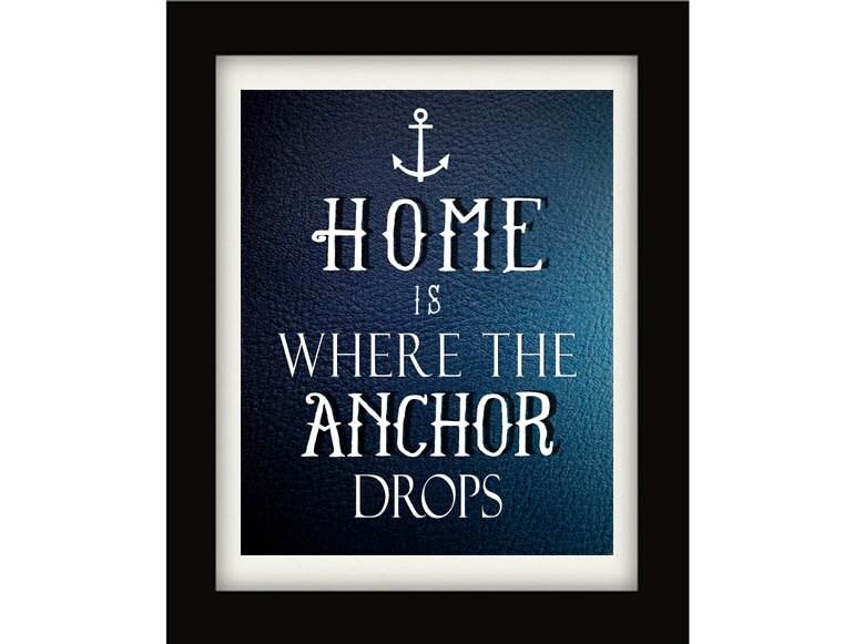 Nautical Print Nautical Quote Home Sweet Home By