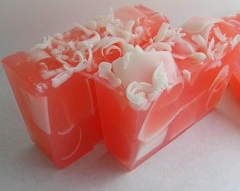 Mango Papaya Soap Loaf - One Pound - Handcrafted Glycerin Soap