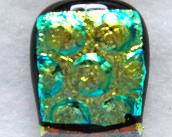 Fused Dichroic glass pendant with cord(13).