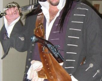 Custom Leather Sword Baldric, pirate, sca, larp