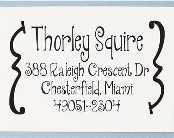 Custom Return Address Stamp - Personalized Address Stamp - Janda Quicky Design - AS20