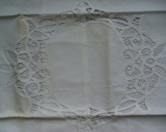 Large Battenburg Lace Pillow Sham - NOS With Tag - Never Used