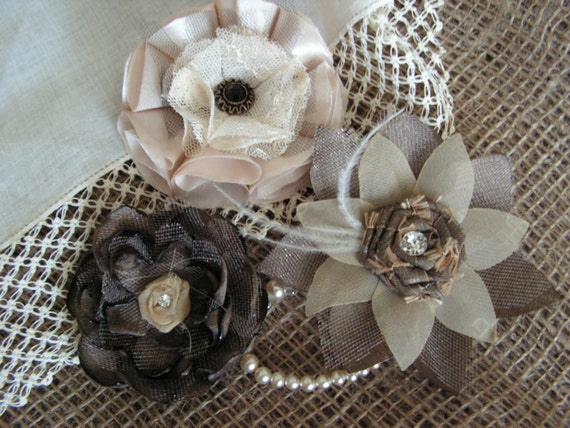 shabby chic flowers wholesale rosettes wedding by mydaisy2000. Black Bedroom Furniture Sets. Home Design Ideas