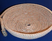 Coiled Orange Colored Roping Rope Basket