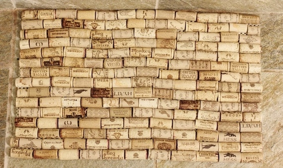 Items similar to wine cork bath mat on etsy for Wine cork welcome mat