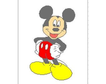 PATTERN-Mickey Mouse Blanket Crochet/Cross Stitch Graph