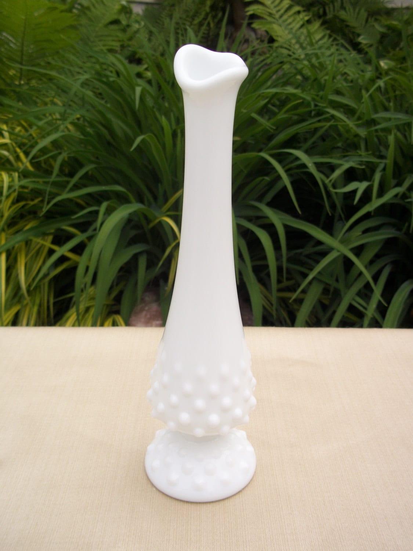 Items Similar To Fenton Milk Glass Hobnail Bud Vase On Etsy