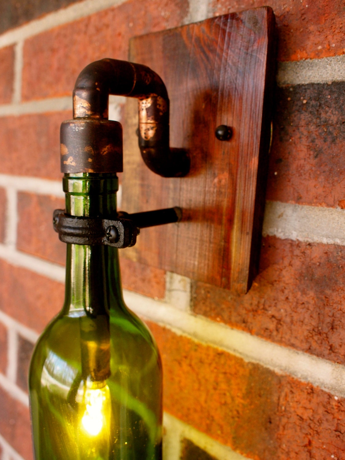Wine Bottle Light Lamp Industrial Sconce Exterior By