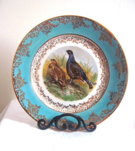 Royal Vienna Style Stw Bavaria Porcelain Hand Painted Plate In